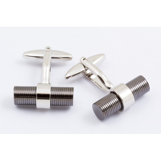 Black wrapped rod cufflinks