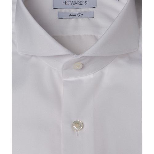 Montesano white poplin shirt cut away collar