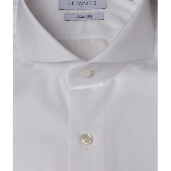 Chemise col cut-away popeline blanche Howard's Paris