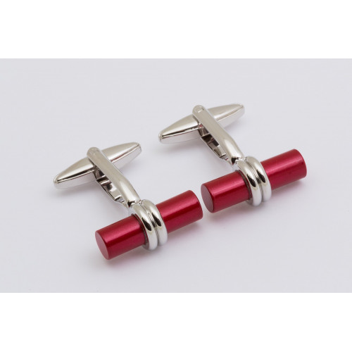 Red rod wrapped cufflinks