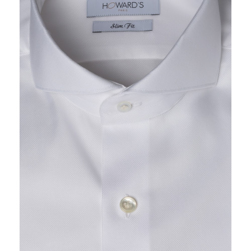 Chemise Buzzoletto col cut-away oxford blanc