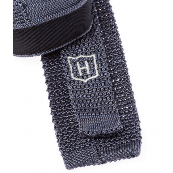 Cravate en tricot de soie Howard's Paris