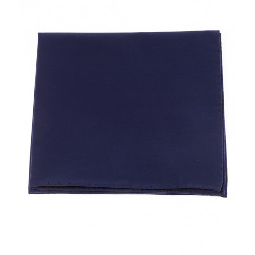 Pochette de costume en popeline bleue Howard's Paris