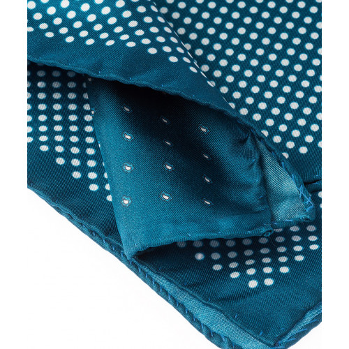 Pochette de costume double face bleue Howard's Paris