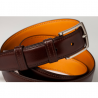 Ceinture en cuir chocolat Howard's Paris