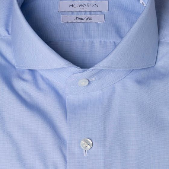 Chemise piramo cut away twill bleu