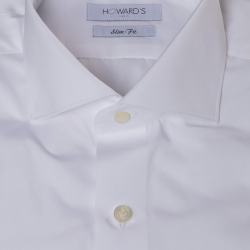Benigi white poplin shirt French cuffs