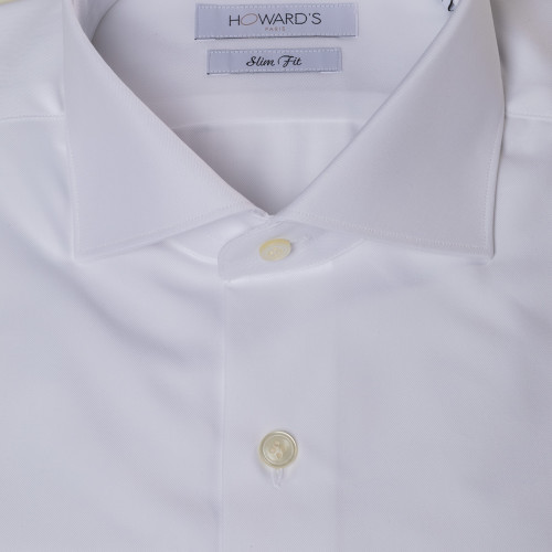 Grassman white twill shirt French cuffs