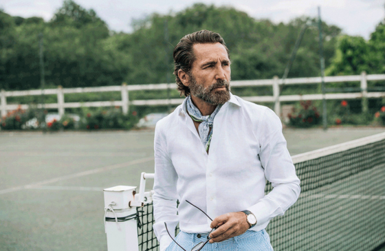 How and why to wear a linen mens shirt from Howard's Paris?